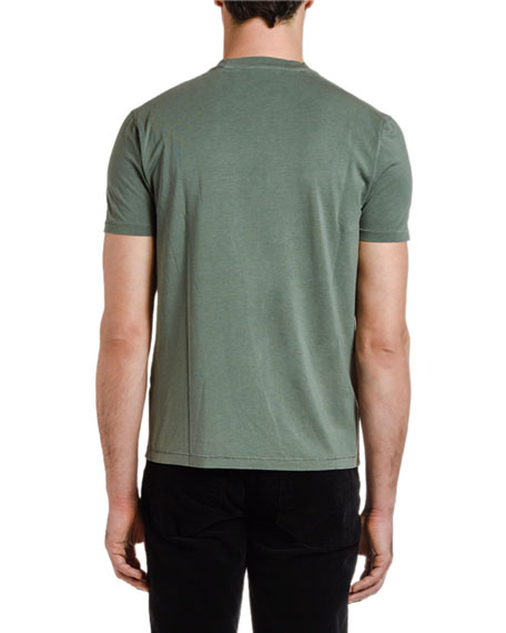 TOM FORD Men's Solid-Knit Crewneck T-Shirt, Green