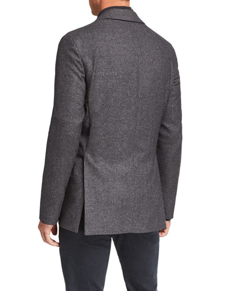 Image 2 of 4: THE ROW Men's Walter Silk-Blend Sport Jacket