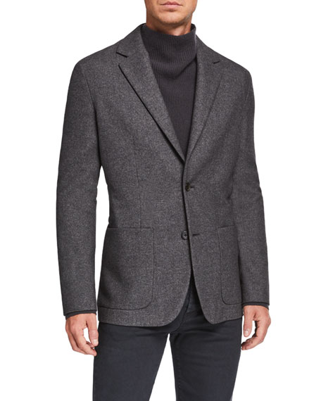 Image 3 of 4: THE ROW Men's Walter Silk-Blend Sport Jacket