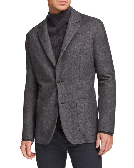 Image 1 of 4: THE ROW Men's Walter Silk-Blend Sport Jacket