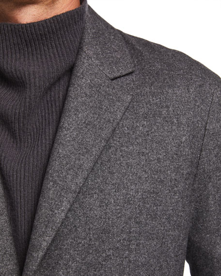 Image 4 of 4: THE ROW Men's Walter Silk-Blend Sport Jacket