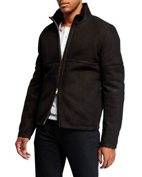 THE ROW Men's Ryder Lambskin Zip-Front Jacket