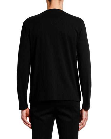 Alexander McQueen Men's X-Ray Skull Graphic Long-Sleeve Cotton T-Shirt