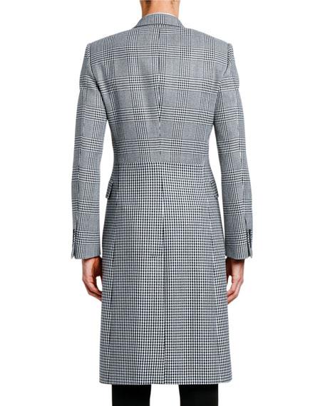 Alexander McQueen Men's Glen Plaid & Houndstooth Wool Coat