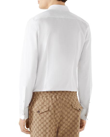 Gucci Men's Formal Satin-Bib Tuxedo Shirt