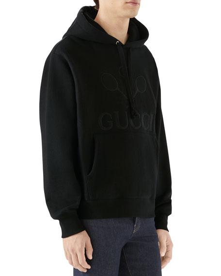 Gucci Men's Logo-Front Hooded Sweatshirt