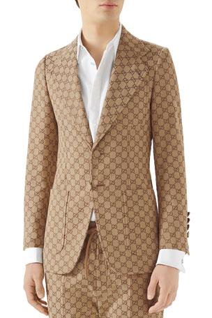 Gucci Men's GG Logo Sport Coat