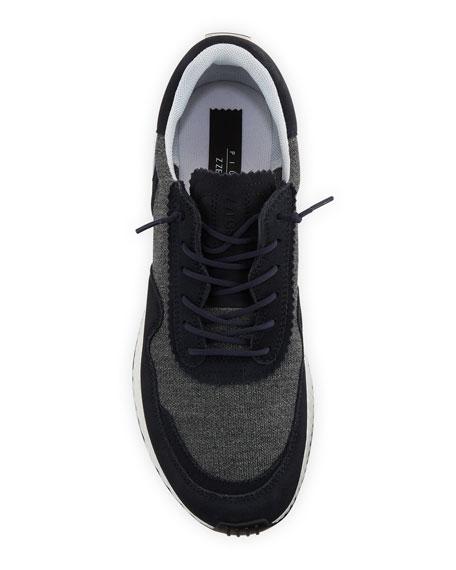 Ermenegildo Zegna Men's Piuma TechMerino Virgin Wool Trainer Sneakers