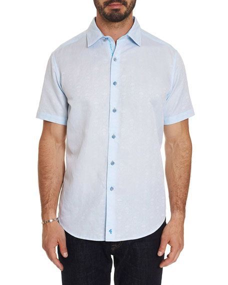 Robert Graham Men's Temple of Skull Short-Sleeve Sport Shirt