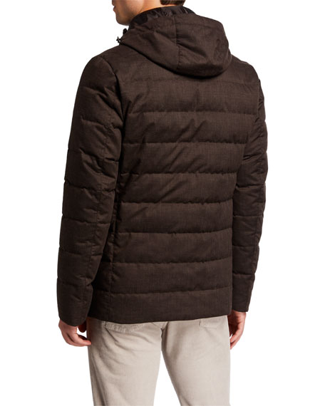 Herno Men's Techno-Wool Puffer Jacket