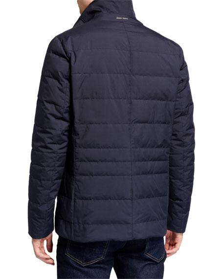 Herno Men's Quilted Three-Button Blazer