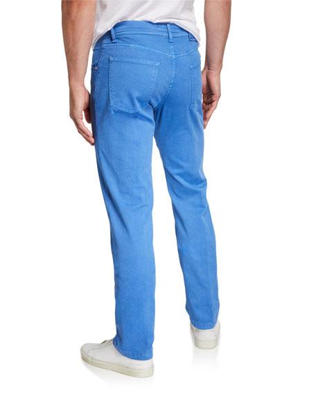 Kiton Men's Twill 5-Pocket Pants, Light Blue