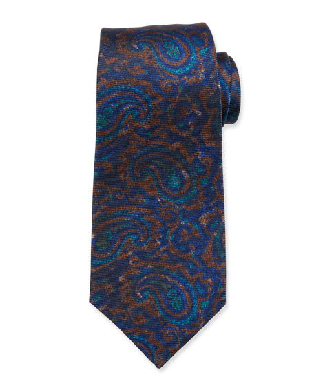 Kiton Antique Paisley Silk Tie