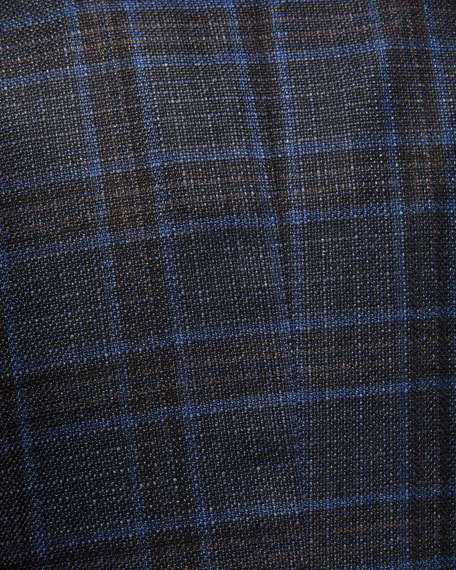 Kiton Men's Plaid Cashmere Sport Coat
