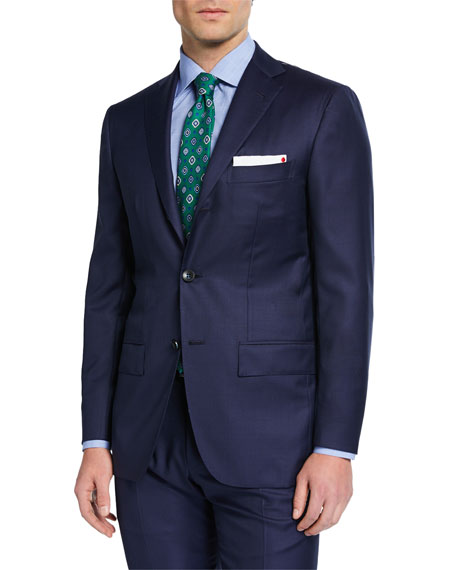 Kiton Men's Solid Sharkskin Wool Two-Piece Suit