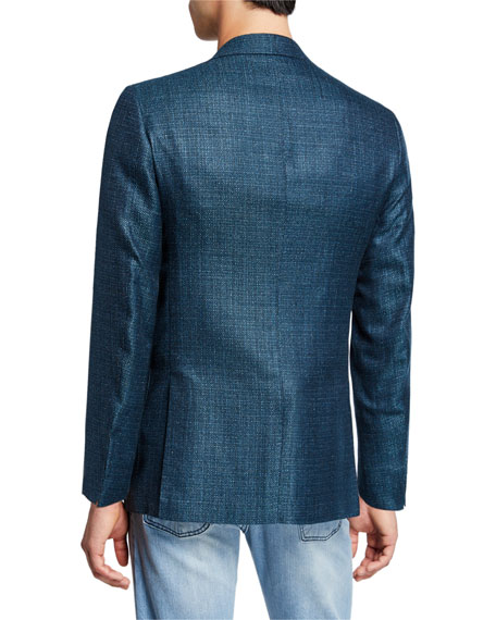 Kiton Men's Textured Cashmere-Blend Three-Button Jacket