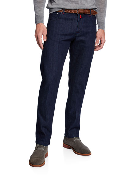 Kiton Men's Dark-Wash Slim-Leg Jeans