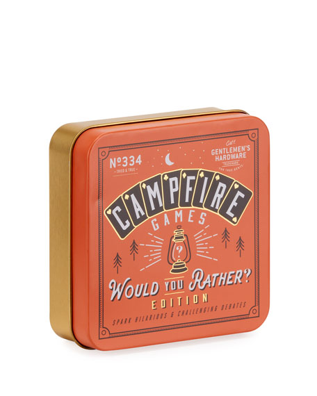 Gentlemen?s Hardware Campfire Games, Would You Rather