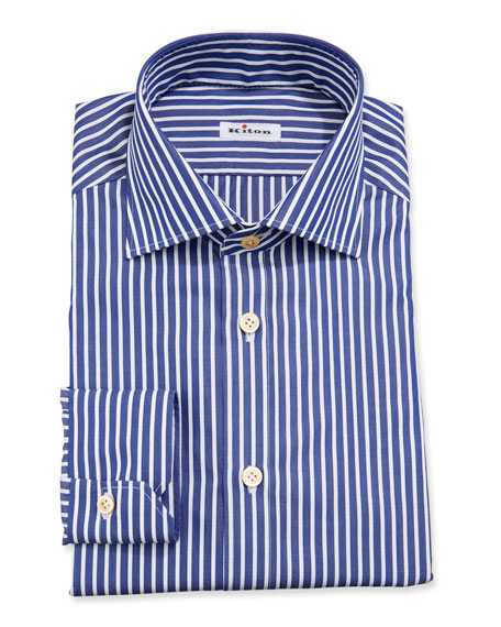 Kiton Bengal-Stripe Dress Shirt