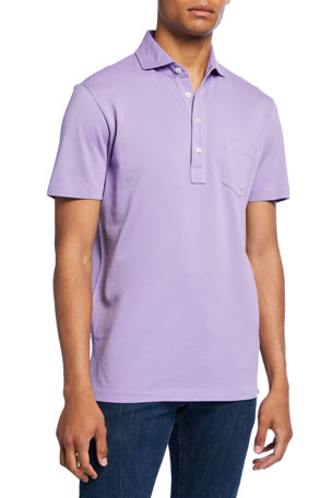 Ralph Lauren Purple Label Men's Pocket Polo Shirt, Lavender