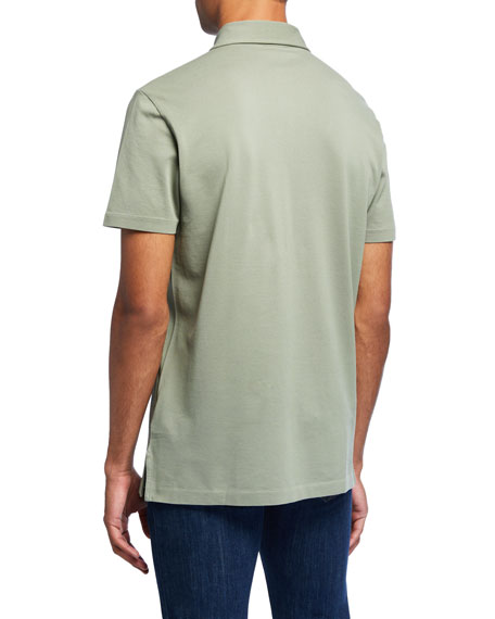 Ralph Lauren Purple Label Men's Jersey Pocket Polo Shirt, Green