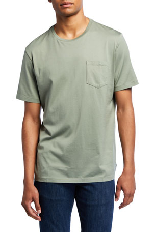 Ralph Lauren Purple Label Men's Washed Cotton Pocket T-Shirt, Green