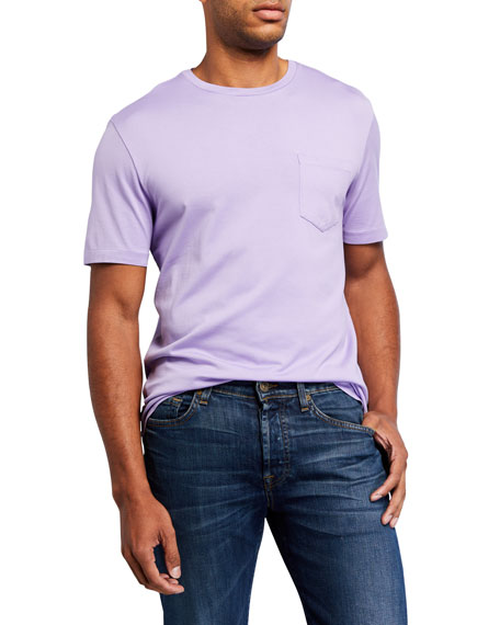 Ralph Lauren Men's Washed Cotton Pocket T-Shirt, Lavender