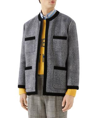 ed27bfa161e Gucci Men s Herringbone Tweed Jacket