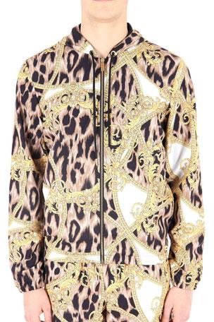 Versace Men's Mare Uomo Graphic Gym Jacket