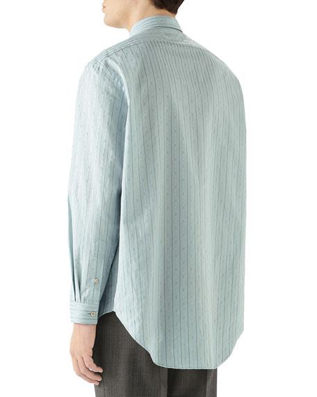 Gucci Men's Striped Logo-Print Sport Shirt