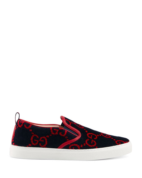 fcfa36919 Gucci Men's Dublin Terry Cloth Slip On Sneakers | Neiman Marcus