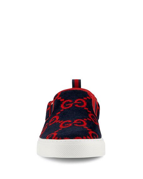 Gucci Men's Dublin Terry Cloth Slip On Sneakers