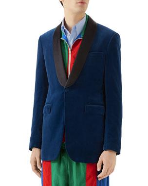 f58d76d2007 Gucci Men s Velvet Tuxedo Dinner Jacket