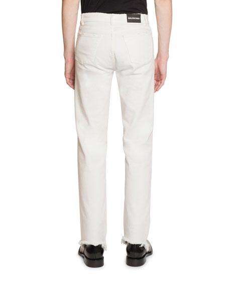 Balenciaga Men's Fitted 5-Pocket Stretch-Denim Jeans