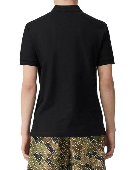 Burberry Men's Eddie Pique Polo Shirt, Black