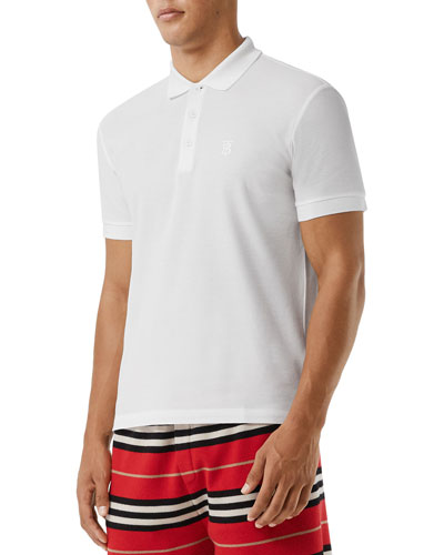 Men's Eddie Pique Polo Shirt  White