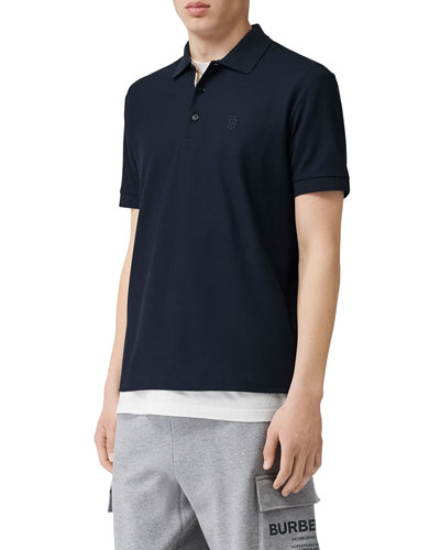Men's Eddie Pique Polo Shirt  Navy