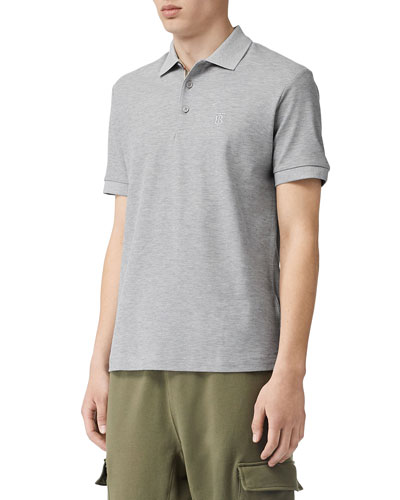 Men's Eddie Pique Polo Shirt  Gray
