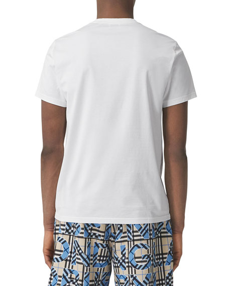 Burberry Men's Parker Logo-Embroidered T-Shirt, White