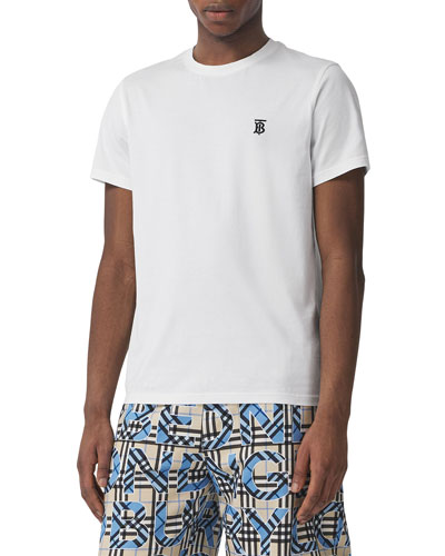 Men's Parker Logo-Embroidered T-Shirt  White
