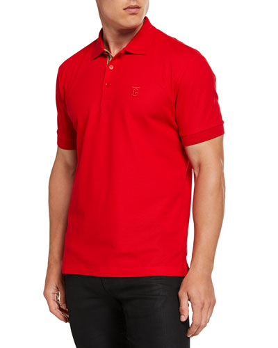 Men's Eddie Pique Polo Shirt  Bright Red