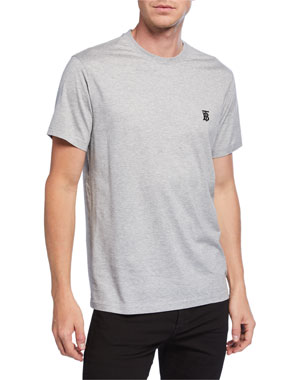 e9a2a704219 Burberry Men s Parker Logo-Embroidered T-Shirt