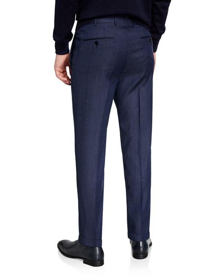 Ermenegildo Zegna Men's Achillfarm Wool Denim Blue Trousers