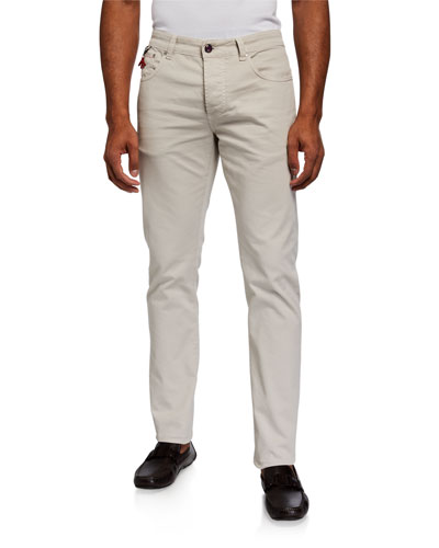 Men's Cropped Stretch-Denim Jeans