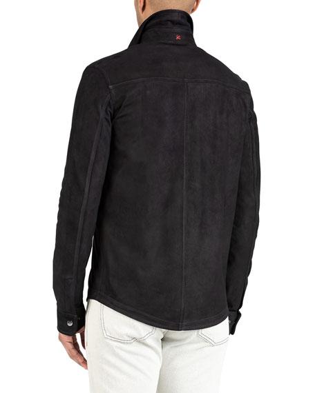 Isaia Men's Suede Shirt Jacket
