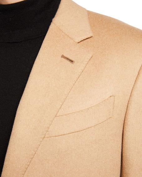 Ermenegildo Zegna Men's Solid Camel Hair Sport Jacket