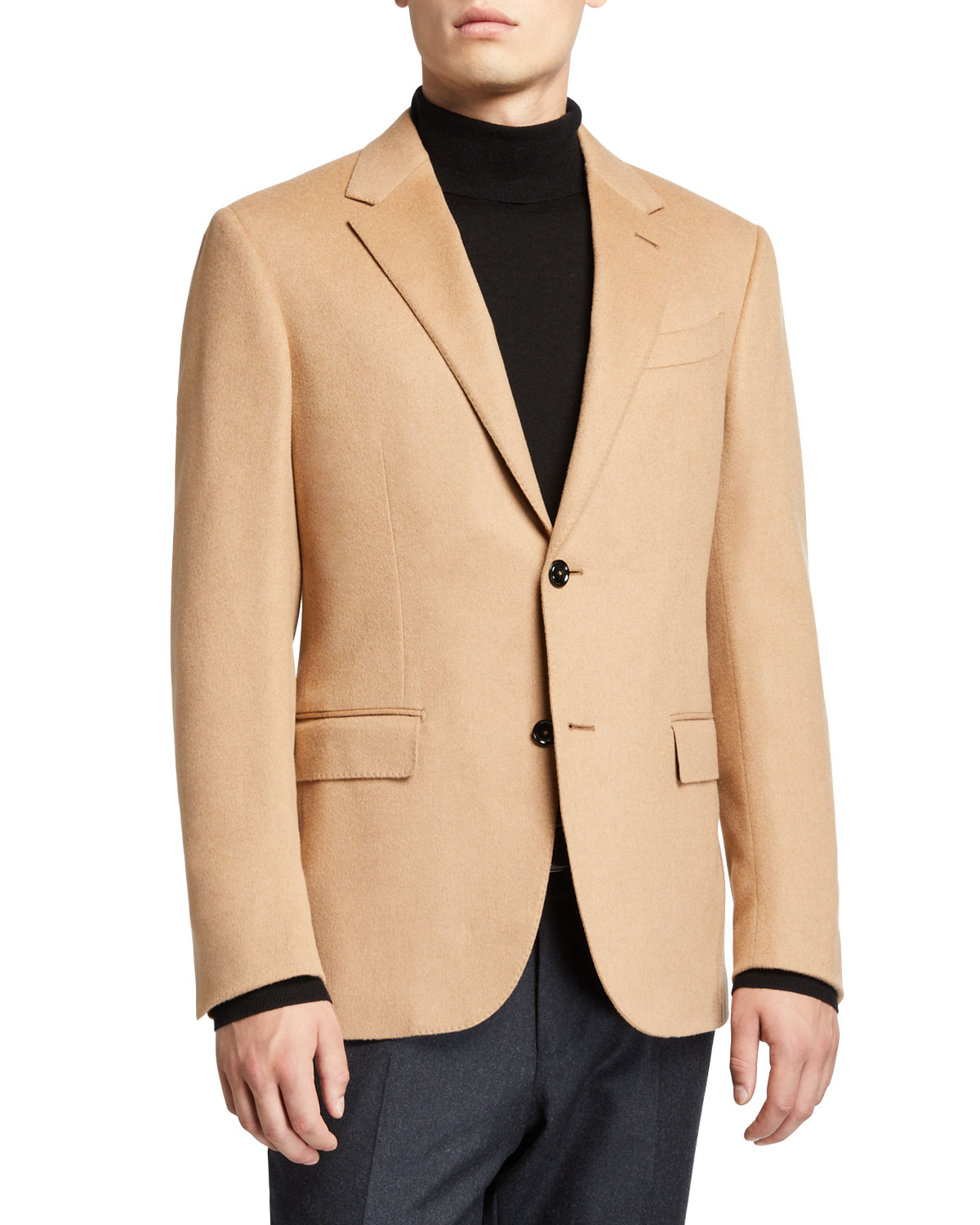 mens-solid-camel-hair-sport-jacket by ermenegildo-zegna
