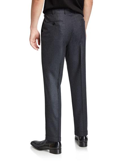 Ermenegildo Zegna Men's Wool-Silk Flannel Trousers