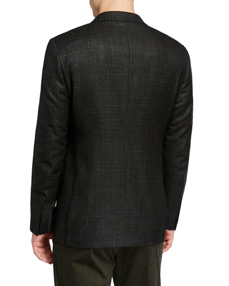 Image 2 of 3: Ermenegildo Zegna Men's Heathered Wool/Cashmere Regular-Fit Blazer