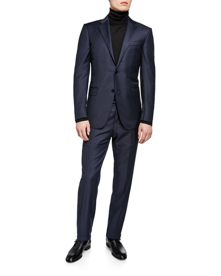 Ermenegildo Zegna Men's Tonal Plaid Two-Piece Suit